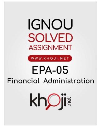EPA-05 Solved Assignment Hindi Medium IGNOU BA BDP