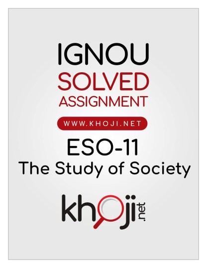 ESO-11 Solved Assignment English Medium IGNOU BDP BA