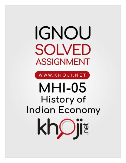 MHI-05 Solved Assignment English Medium For IGNOU MA History