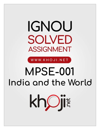 MPSE-001 Solved Assignment English Medium For IGNOU MA Political Science