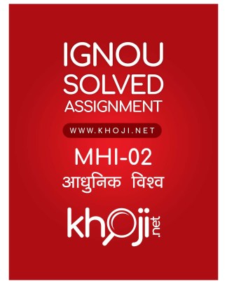MHI-02 Solved Assignment Hindi Medium For IGNOU MA History