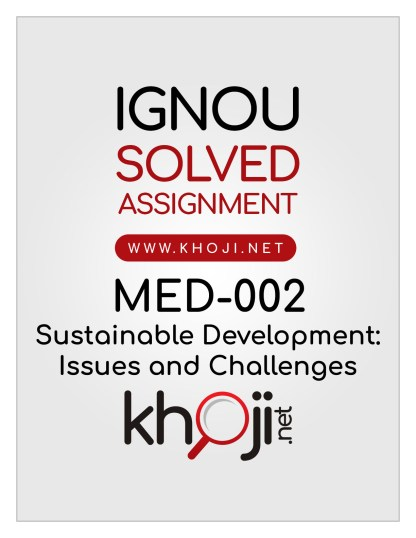 MED-002 Solved Assignment English Medium For IGNOU MA Political Science