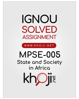 MPSE-005 Solved Assignment English Medium IGNOU MA Political Science