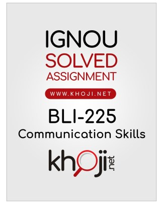 BLI-225 Solved Assignment In English Medium IGNOU BLIS