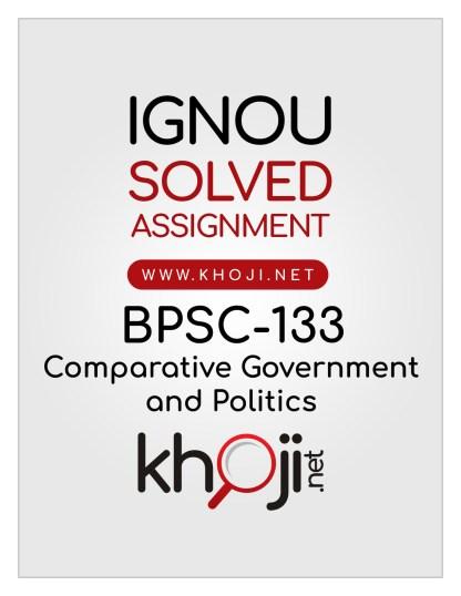 BPSC-133 Solved Assignment English Medium IGNOU BAG