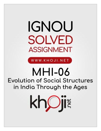 MHI-06 Solved Assignment English Medium IGNOU MA History