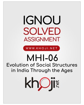 MHI-06 Solved Assignment English Medium IGNOU MA History