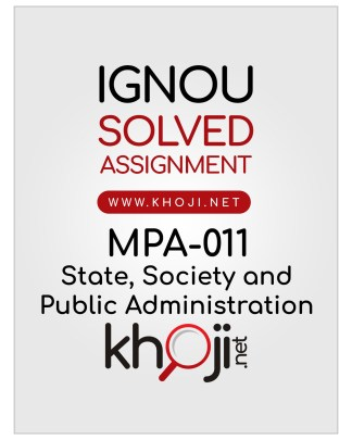 MPA-011 Solved Assignment English Medium IGNOU MA Public Administration