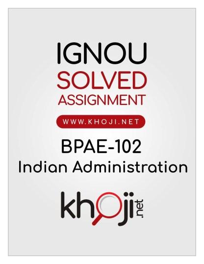BPAE-102 Solved Assignment English Medium IGNOU BA BDP