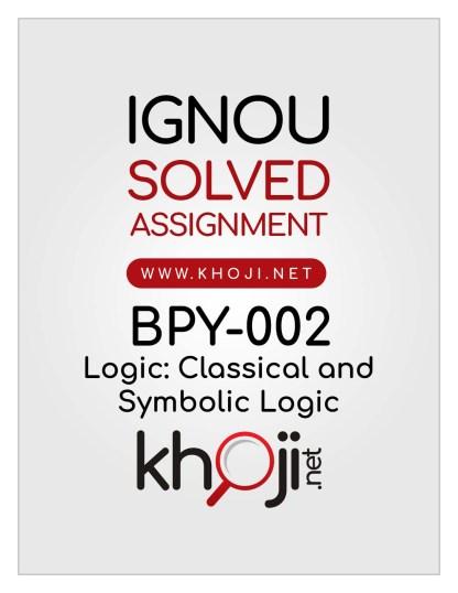BPY-002 Solved Assignment English Medium For IGNOU BA BDP