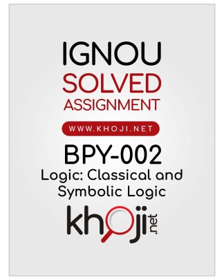 BPY-002 Solved Assignment English Medium For IGNOU BA BDP