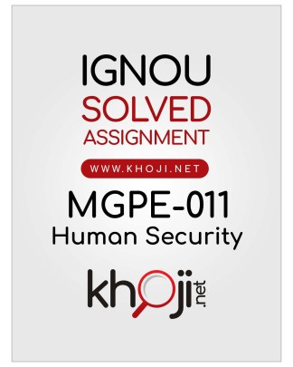 MGPE-011 Solved Assignment English Medium IGNOU MA Political Science