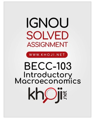 BECC-103 Solved Assignment in Hindi IGNOU BAG