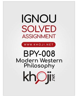 BPY-008 Solved Assignment English Medium For IGNOU BA BDP