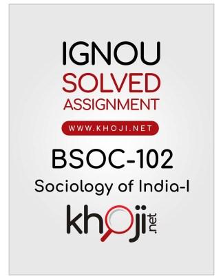 BSOC-102 Solved Assignment English Medium IGNOU BAG
