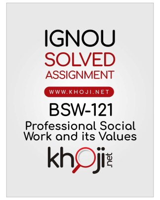 BSW-121 Solved Assignment English Medium IGNOU BSWG