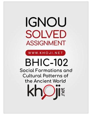 BHIC-102 Solved Assignment IGNOU BAHIH English Medium