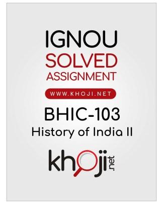 BHIC-103 Solved Assignment IGNOU BAHIH English Medium