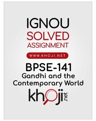 BPSE-141 Solved Assignment English Medium IGNOU BAG and BA Honours