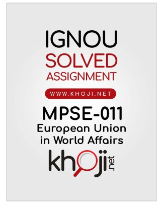 MPSE-011 Solved Assignment in English Medium IGNOU MA Political Science