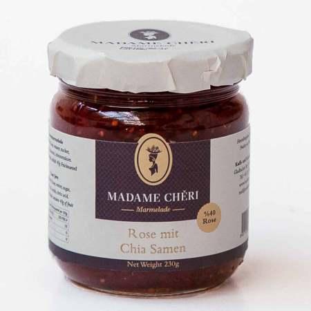 Marmeladenpaket MADAME CHÊRI ~ Rosenmarmelade mit Chia ~ chialı gül reçeli