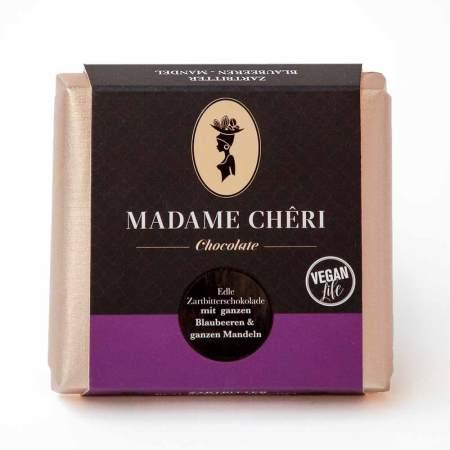 MADAME CHĚRI ~ Zartbitter mit ganzen Blaubeeren und Mandeln
