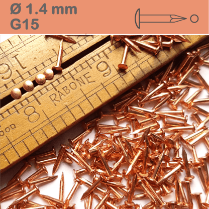 Copper plated round head nails