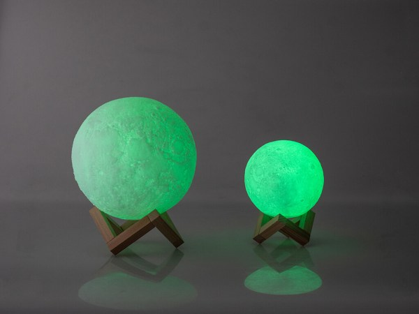 Mesačná lampa zelená