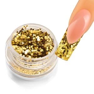 Holoblättchen Hellgold, metallic-glossy