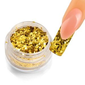 Holoblättchen Gold, metallic-glossy