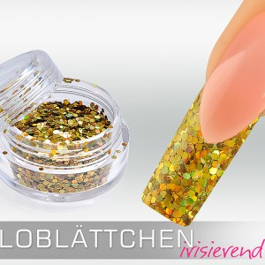 Holoblättchen Gold, irisierend-metallic