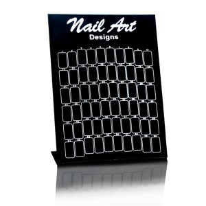Nailart Display Aufsteller, schwarz für 60 Tips