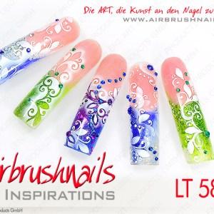 Klebeschablonen für Nailart Airbrush, LT5847