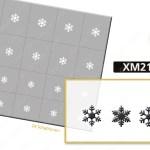 Nailart Airbrush Klebeschablone XM2100_grey24