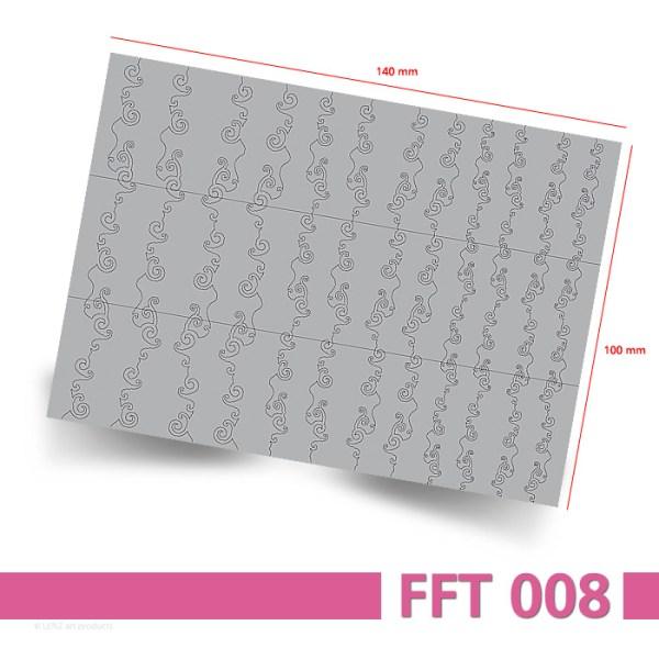 Nailart Airbrush Schablone, Effektlinie, selbstklebend, FFT008 - Bogenansicht