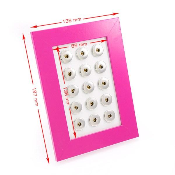Wechselschmuck Rahmen für Clicks, Pink, Dimensionen