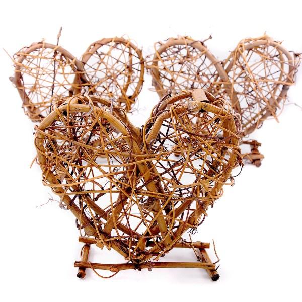 Deko-Herzen aus Weinreben, 3 Stück