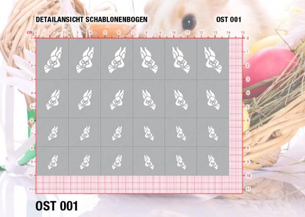 Nailart Airbrush Klebeschablonen Ostern OST001