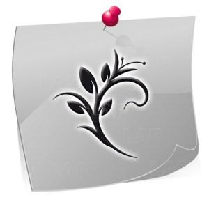 Nailart Airbrush Klebeschablonen Blätter-BL4210