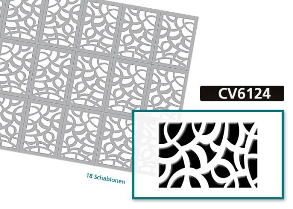 Nailart Airbrush Klebeschablonen Fullcover CV6124 Bogenansicht
