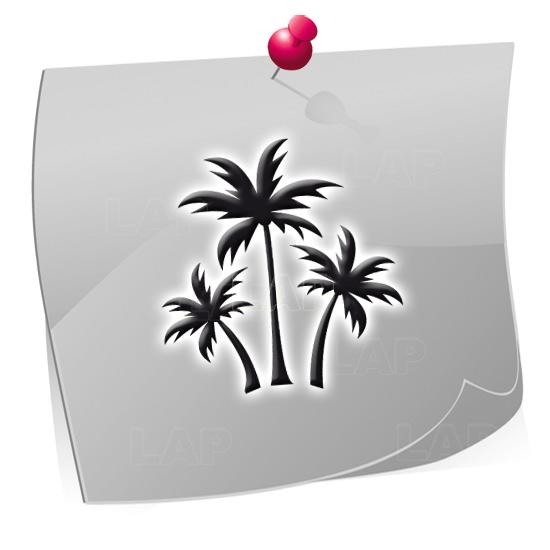 Klebeschablonen PAL7871, Nailart Airbrush Schablonen Palmen, Sommer, Strand