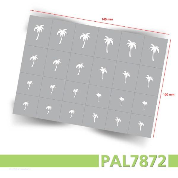 Klebeschablonen PAL7872 Palmen