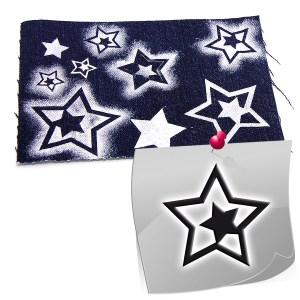 Schablonen für Stoff und mehr - Stern 02