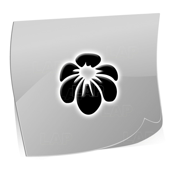 24 Mini Nailart Airbrush Klebeschablonen Blume BL4385, selbstklebend, Airbrushnailart