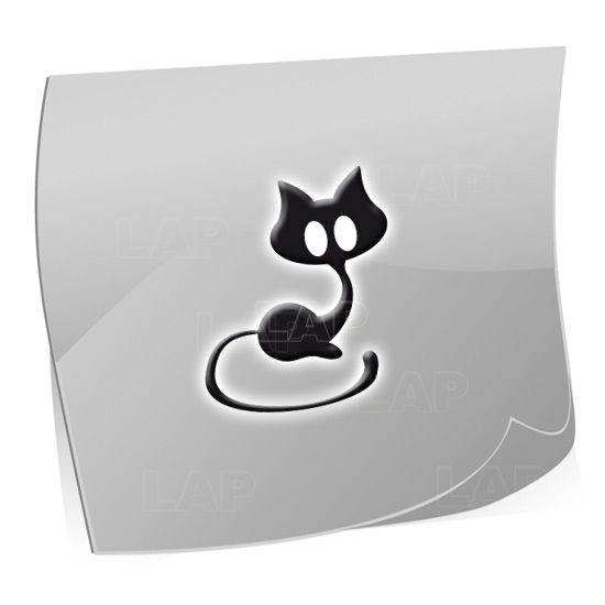 Nailart Airbrush Klebeschablone Katze T2314