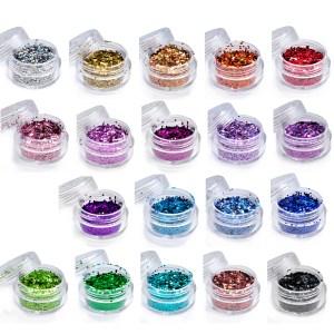 Hologrammblättchen, irisierende Farben im Döschen