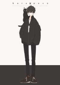 黒髪と黒猫