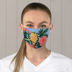Yellow Warbler Fabric Face Mask