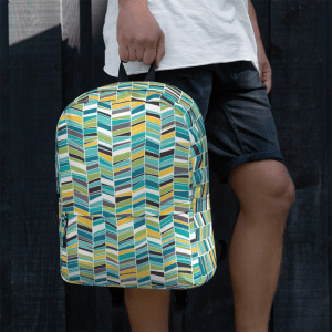 Cool Sketched Chevron Backpack