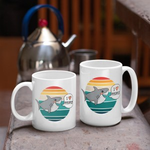 I Love People Shark Mug in two sizes